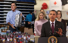 Campaign politics takes backseat to Sandy relief effort
