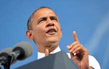Obama making up for lost time on campaign trail