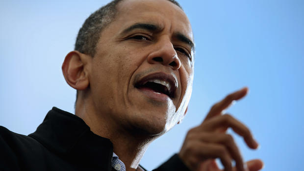 Obama races to the finish through key swing states