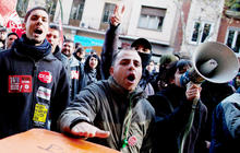 Spending cuts spark violent protests in Spain