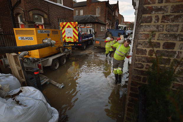 Floodwaters threaten United Kingdom