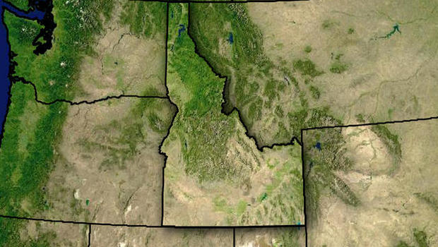 Smokejumper Killed In Idaho Parachuting Accident CBS News - Topographical map of idaho