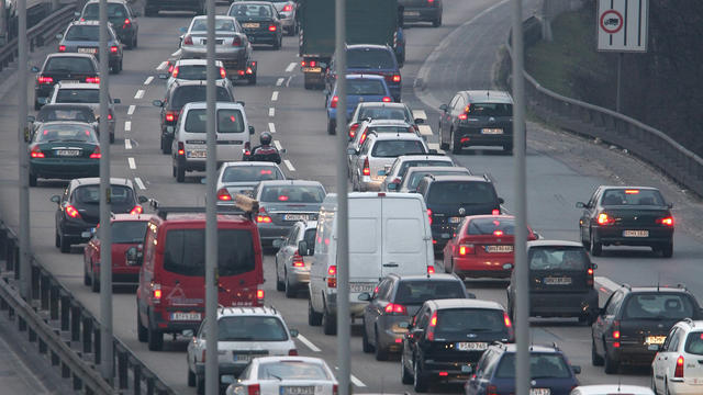 Cars, trucks and other traffic clog the A100 ring road at rush hour February 21, 2007 in Berlin, Germany.