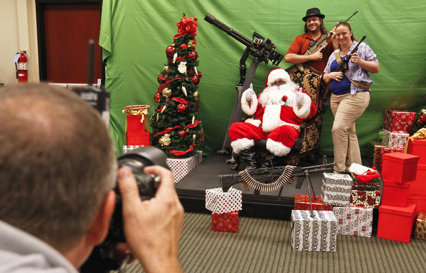 Santa and machine guns