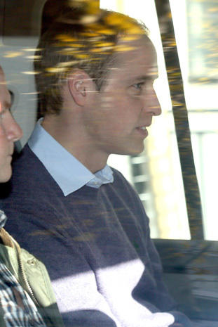Prince William visits Kate at the hospital