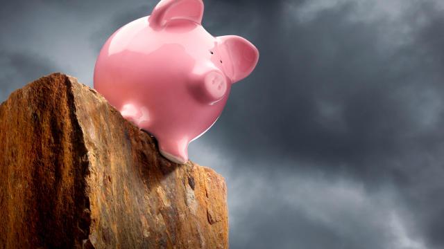 Fiscal Cliff piggy bank