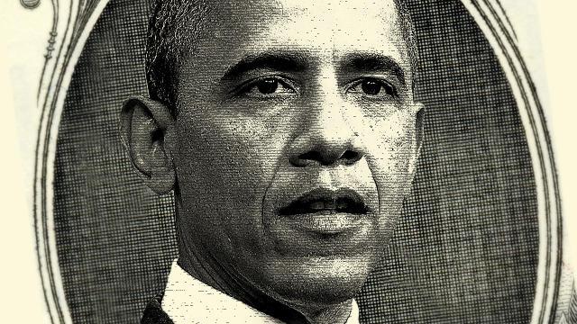 Fiscal Cliff Obama dollar bill