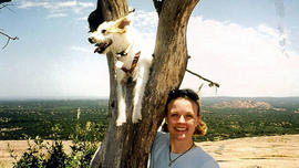 Dana Clair Edwards and her beloved rescue dog, Grit