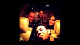 A photo taken of Rivera and her entourage shortly before her plane crashed.
