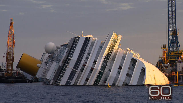 """60 Minutes"" goes inside Costa Concordia salvage effort"