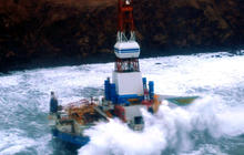 Rescue operation for oil rig on the brink