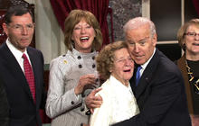 """Best of Biden: """"You're gonna be frisked"""" & more from swearing-in"""