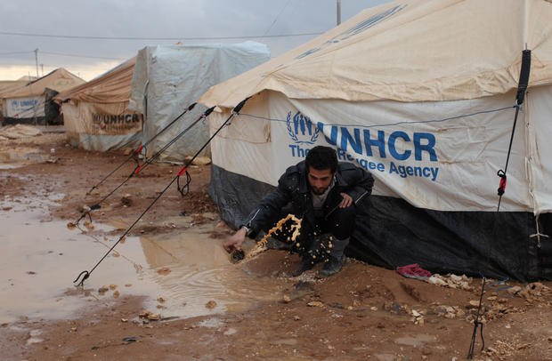 Winter compounds Syrian refugees' misery