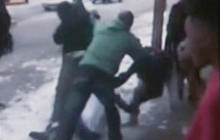 Watch: Parents join high school students in street brawl