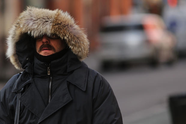 Frigid temperatures blast north east