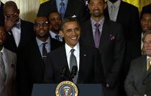 Obama jokingly takes credit for Miami Heat championship