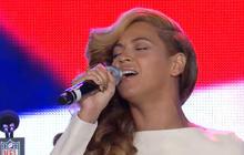 Beyonce sings national anthem at Super Bowl press conference