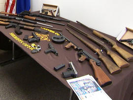 Police found 15 guns at Oberender's home.