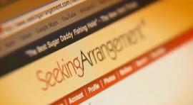 A screenshot of SeekingArrangement.com