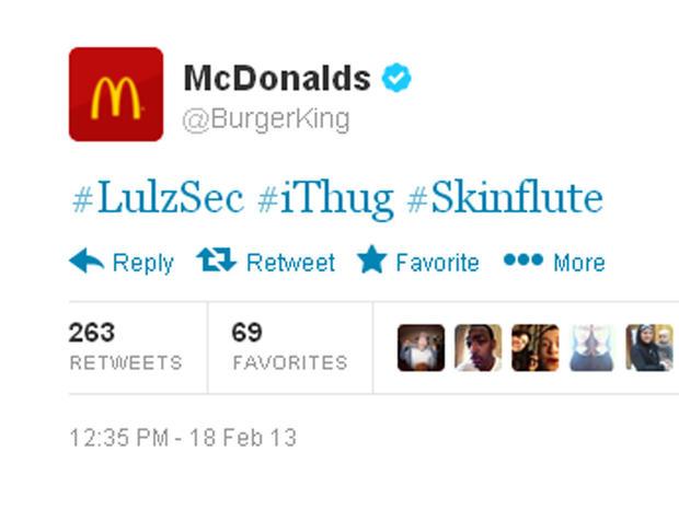 Hacked account of @Burgerking