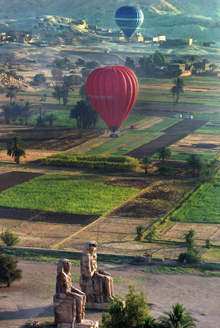 Hot air balloon crash in Egypt