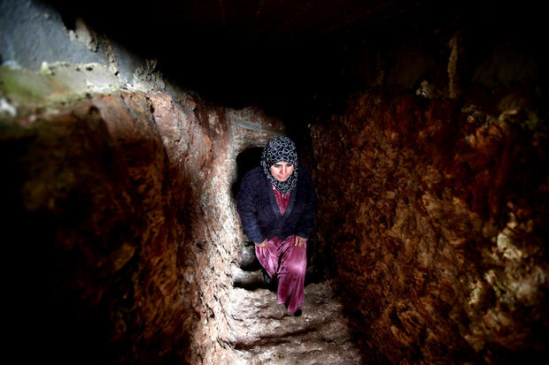 Syria: Shelter in ancient ruins