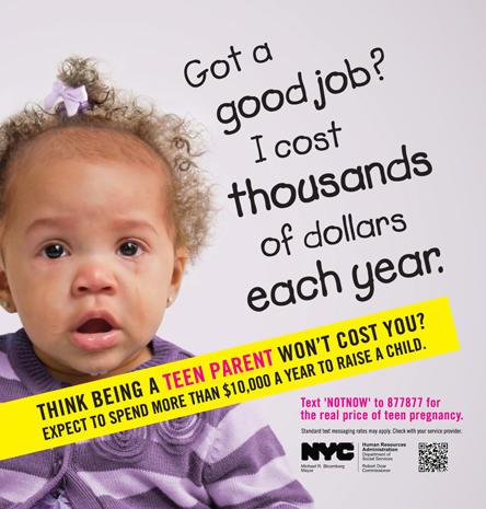 New York's teen pregnancy PSAs