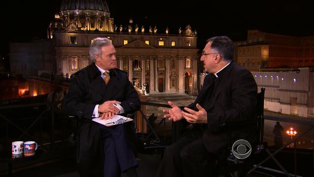 "CBS ""Evening News"" anchor Scott Pelley interviews Vatican Press Secretary Father Thomas Rosica."