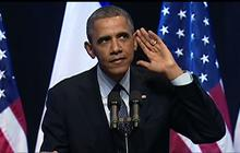 """Obama: Protester """"made me feel at home"""""""