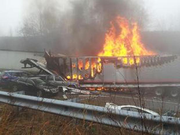 car wreck, virginia, i-77