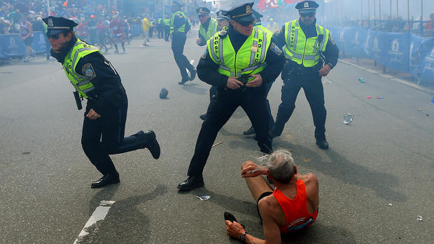Boston Marathon bombing: Iconic images