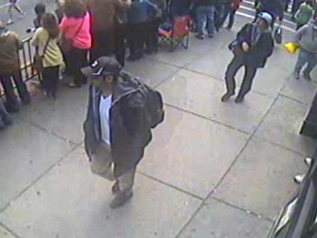 Boston marathon bombing suspects video grab