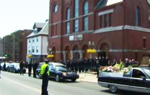 Silent tribute for the Boston victims