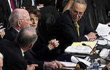 """Schumer: Some using Boston bombings as """"excuse"""" to bypass immigration bill"""