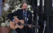 James Taylor performs at Sean Collier memorial service