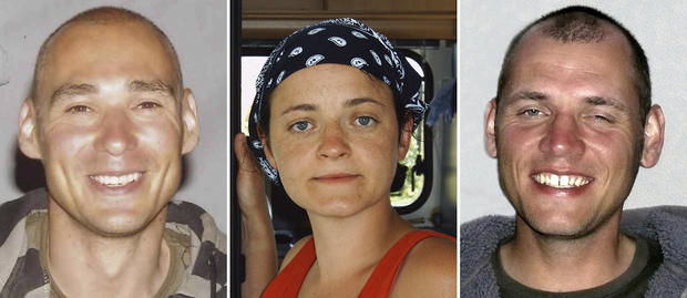 The combo of undated photographs provided by German federal criminal investigation office BKA shows terror suspects, from left, Uwe Mundlos, Beate Zschaepe and Uwe Boenhardt. Zschaepe who is the sole survivor of a neo-Nazi group _ the self-styled National