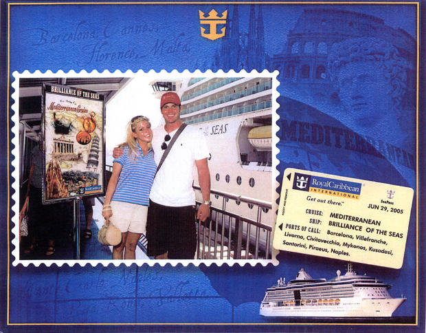 On June 29, 2005, the newlyweds aboard Royal Caribbean's Brilliance of the Seas set sail from Barcelona, Spain.