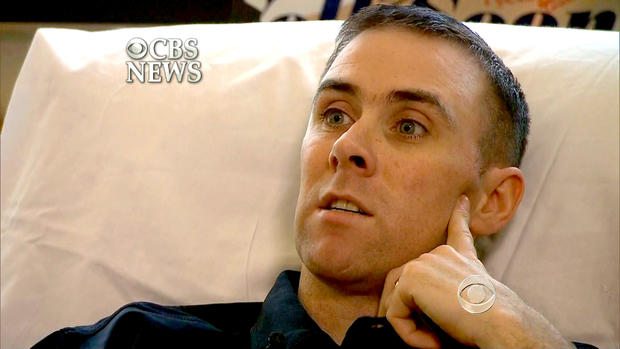 Officer Richard Donohue recounts the shootout with the Tsarnaev brothers from his hospital bed in Massachusetts.