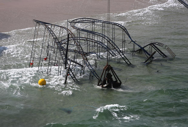 Iconic coaster removed from N.J. waters