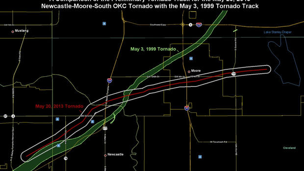Tornado tracks