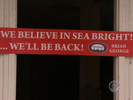 The Sea Bright town sign.