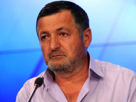 Abdul-Baki Todashev, father of Ibragim Todashev, who was shot and killed by an FBI agent in Florida, speaks during a press conference in Moscow May 30, 2013.