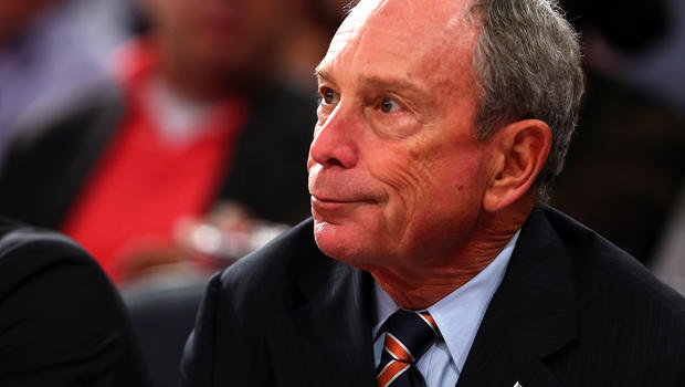 New York City Mayor Michael Bloomberg attends Game Five of the Eastern Conference Semifinals of the 2013 NBA Playoffs between the Indiana Pacers and the New York Knicks at Madison Square Garden May 16, 2013, in New York City.