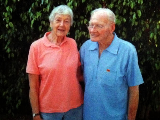 Cynthia Riggs and Howard Attebery pictured reconnecting.
