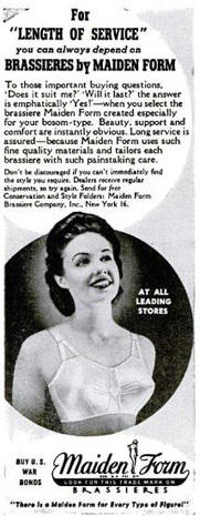 Vintage bra ads