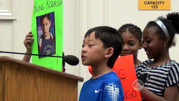 Student's in Rodrigo's fourth grade class rally to bring him back to the United States.
