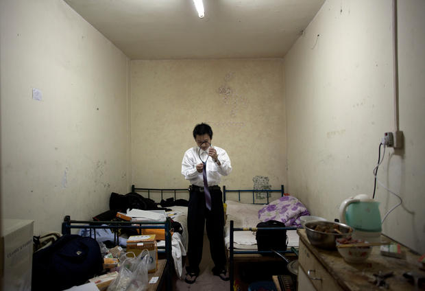 Basement living in China