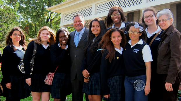 Fred Morris and his students of the Frederick Douglass Family Initiatives