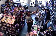 Caught on tape: Store clerk thwarts robber