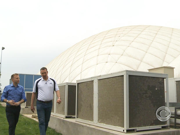 The International School of Beijing built a $5 million dome to enclose a playground and filter the air.